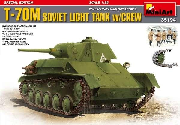 Plastikowy model czołgu T-70M w skali 1:35 do sklejania wraz z załogą-image_MiniArt_35194_1