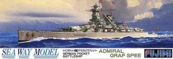 Niemiecki ciężki krążownik Admiral Graf Spee , plastikowy model do sklejania Fujimi 42128 w skali 1:700 - image a_1-image_Fujimi_42128_1