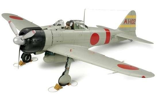 Japoński myśliwiec Mitsubishi A6M2b model 21 (Zeke), plastikowy model do sklejania Tamiya 60317 w skali 1:32-image_Tamiya_60317_1