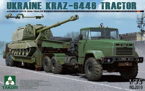 Ukraiński ciężki ciągnik siodłowy KrAZ-6446, plastikowy model do sklejania Takom 2019 w skali 1:35-image_Takom_2019_1