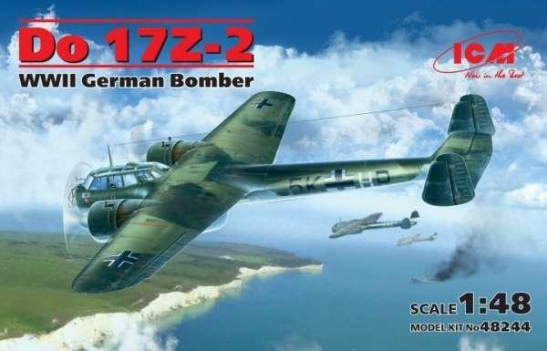 Niemiecki bombowiec Dornier Do 17Z-2, plastikowy model do sklejania ICM 48244 w skali 1:48-image_ICM_48244_1