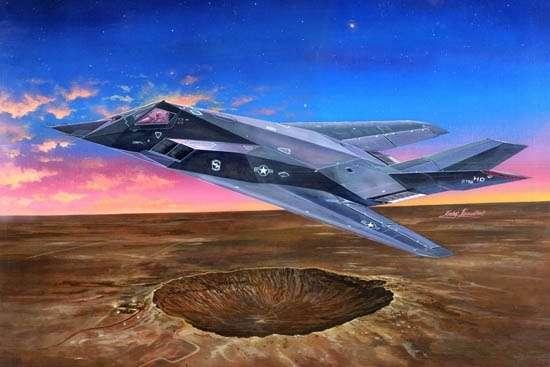 Amerykański samolot w technologii Stealth Lockheed F-117 Nighthawk w skali 1:32 model do sklejania Trumpeter_03219_image_1-image_Trumpeter_03219_1