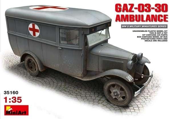 Plastikowy model do sklejania ambulansu z okresu WWII Gaz-03-30-image_MiniArt_35160_1
