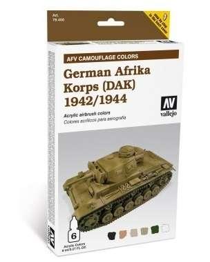 Zestaw farb AFT Camouflage Colors - German Afrika Korps (DAK) 1942/44, Vallejo 78410.-image_Vallejo_78410_1