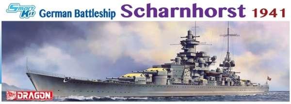 Niemiecki pancernik Scharnhorst, plastikowy model do sklejania Dragon 1036 w skali 1:350-image_Dragon_1036_1