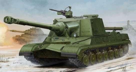 Radziecki eksperymentalny ciężki czołg Obiekt 268, plastikowy model do sklejania Trumpeter 05544 w skali 1:35.-image_Trumpeter_05544_1
