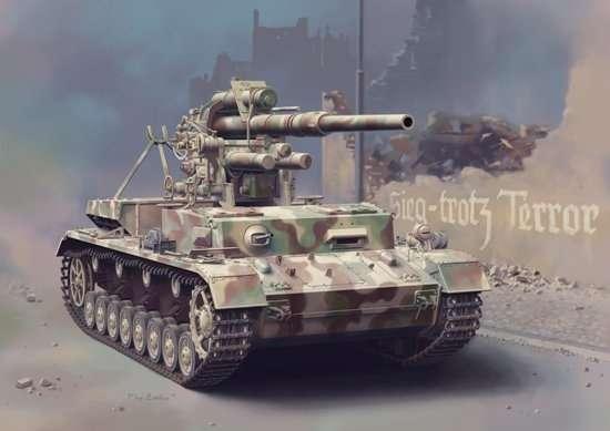 Model niemieckiego działa Flak 36 8,8cm na podwoziu czołgu Panzerkampfwagen IV Ausf.H, plastikowy model do sklejania Dragon 6829 w skali 1/35.-image_Dragon_6829_1