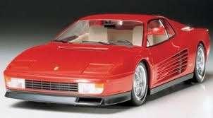Włoski samochód Ferrari Testarossa, plastikowy model do sklejania Tamiya 24059 w skali 1:24.-image_Tamiya_24059_1