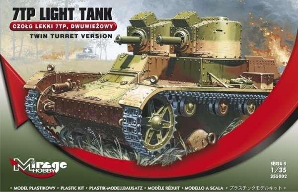 Plastikowy model do sklejania polskiego czołgu lekkiego 7tp w wersji dwuwieżowej-image_Mirage Hobby_355002_1