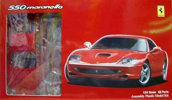 Samochód Ferrari 550 Maranello , plastikowy model do sklejania Fujimi RS-6 (12237) w skali 1:24 - image a_1-image_Fujimi_RS-6_1