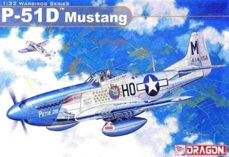 Amerykański jednosilnikowy myśliwiec P-51D Mustang, plastikowy model do sklejania Dragon 3201 w skali 1:32-image_Dragon_3201_1
