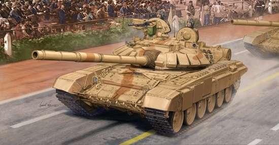 T-90 współczesny czołg produkcji rosyjskiej w wersji S produkowany dla Indii, plastikowy model do sklejania Trumpeter 05561 w skali 1:35-image_Trumpeter_05561_1