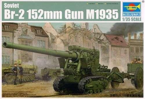 Plastikowy model ciężkiego działa BR-2 152mm do sklejania.-image_Trumpeter_02338_1