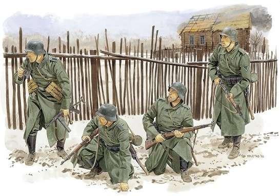 Niemieccy żołnierze - Front Zimowy - Moskwa 1941, plastikowe figurki do sklejania Dragon 6190 w skali 1:35-image_Dragon_6190_1