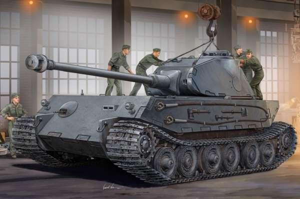 Niemiecki prototypowy ciężki czołg VK 4502 (P) Hintern, plastikowy model do sklejania Hobby Boss 82445 w skali 1:35-image_Hobby Boss_82445_1
