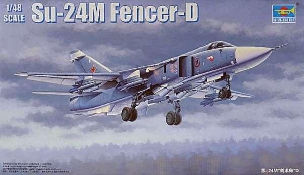 Model myśliwca Sukhoi Su-24M Fencer-D w skali 1:48 do sklejania, model Trumpeter 02835_image_1-image_Trumpeter_02835_1